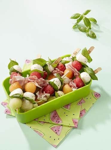 Uitzonderlijk Bolletjesbrochettes met meloen, ham en mozzarella | Colruyt #AR42