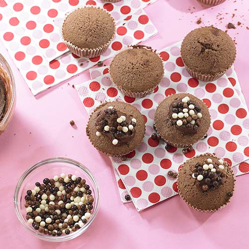 Cupcakes cacao aux Choco Crispies