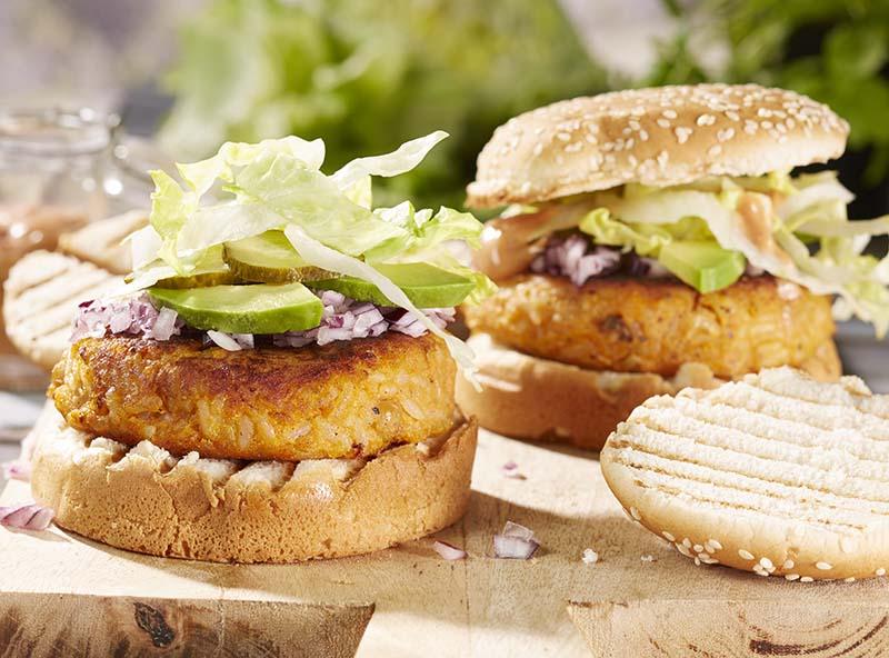 burger de patates douces aux pois chiches colruyt. Black Bedroom Furniture Sets. Home Design Ideas