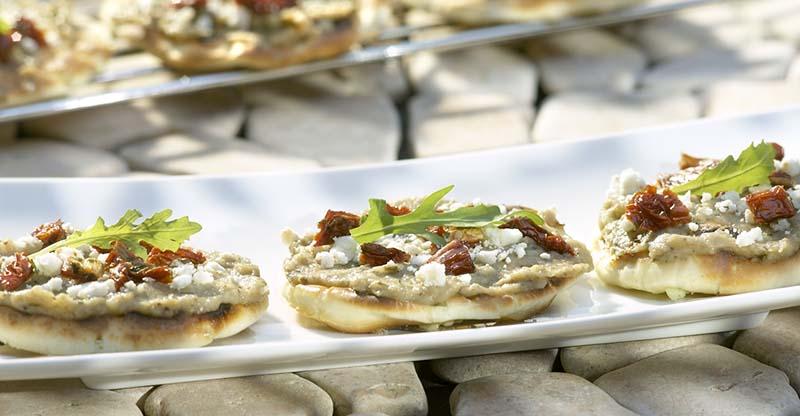 Minipizzas à la grecque