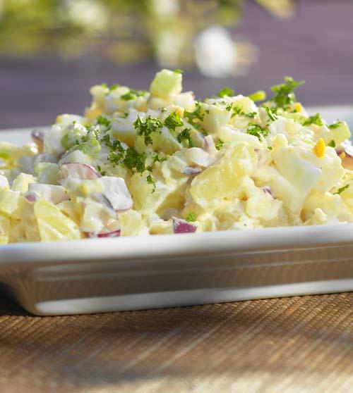 Salade de pommes de terre au fenouil et aux radis