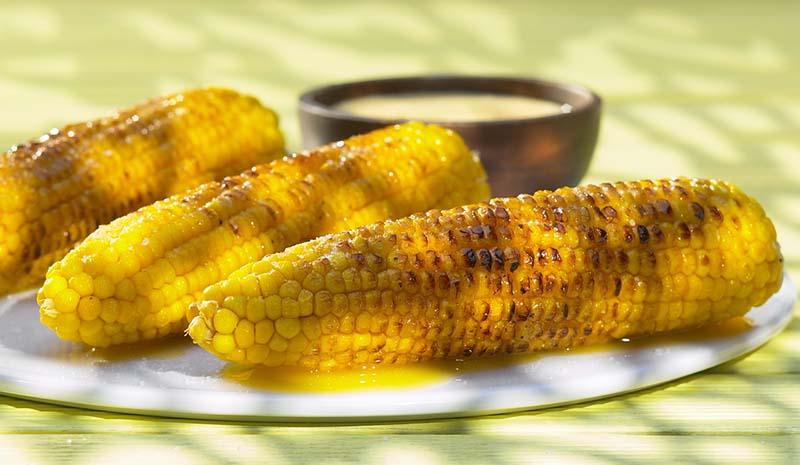 Maïs op de grill