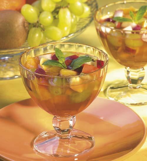Zomers fruitsoepje met Sauternes en vanille