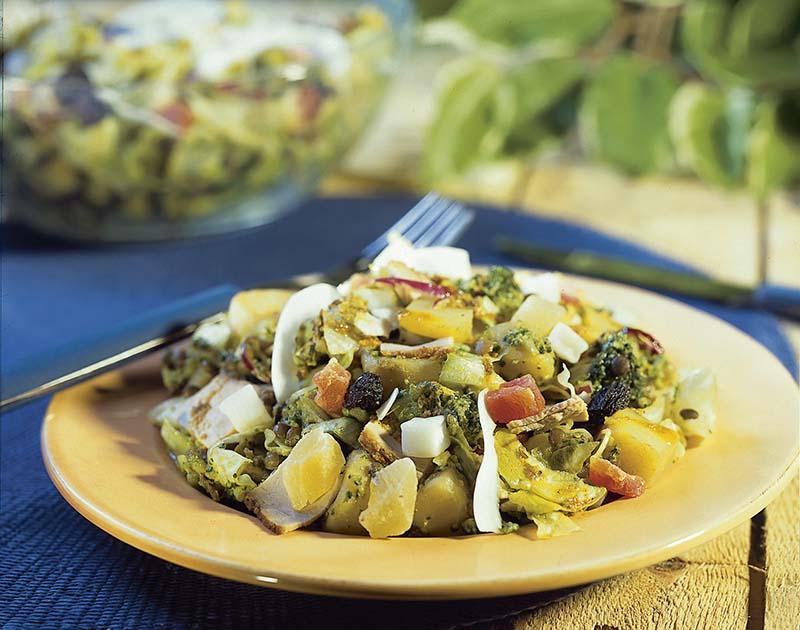 Salade aux 3 épices indiennes, aux lentilles