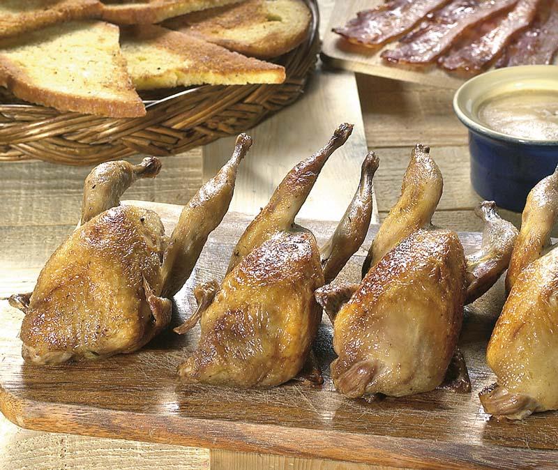 R ti de porc sauce l estragon et chicons caram lis s for Cailles sur canape
