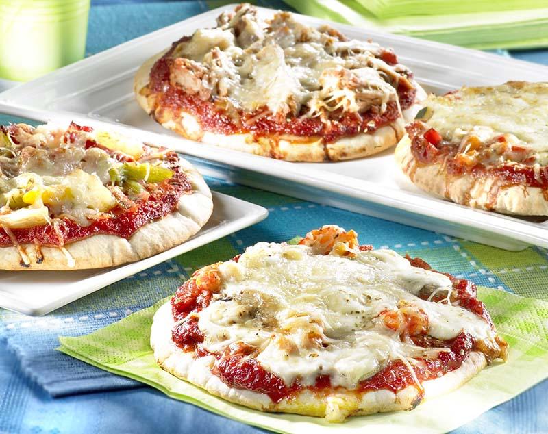 Pizza met groentjes