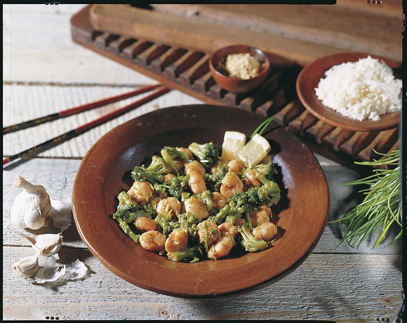 Scampi's met broccoliroosjes