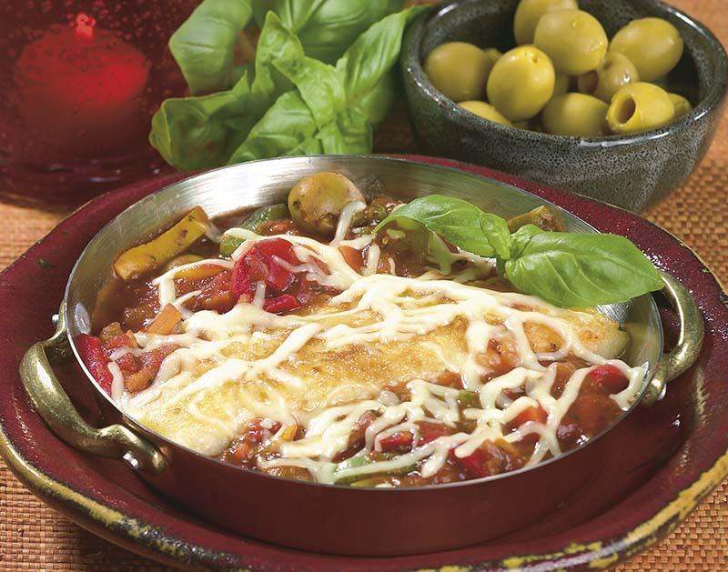 Kabeljauw 'filet pur' gegratineerd met mozzarella