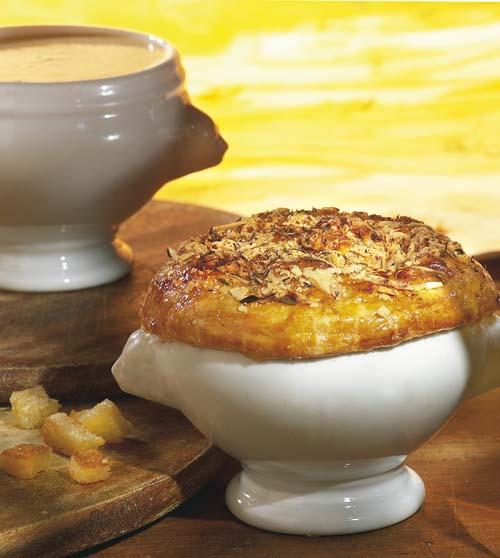 Soupe de fromage en croûte