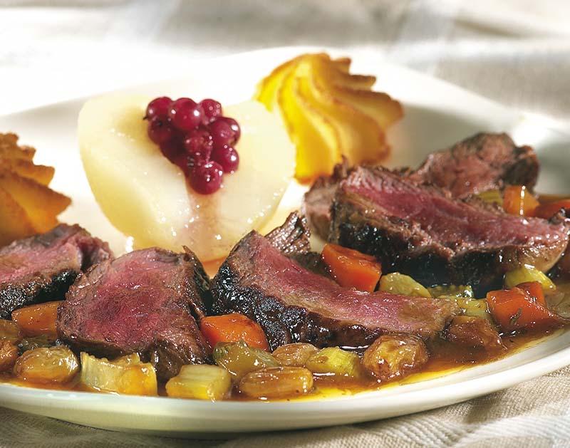 Filet de sanglier la rodenbach colruyt - Cuisiner un roti de biche ...