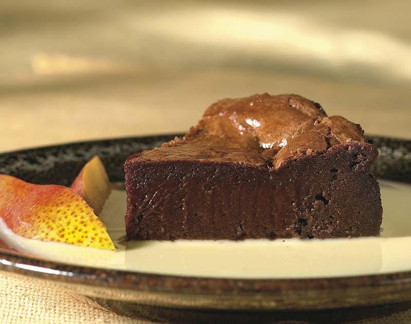 Warme chocoladetaart