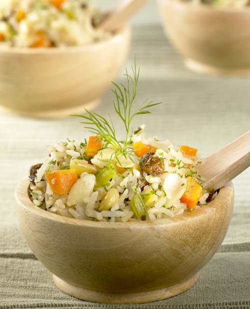Bouchées au riz et aux fruits secs