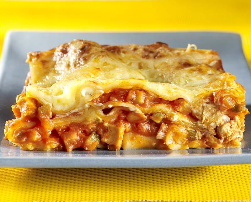 Groentelasagne met mozzarella