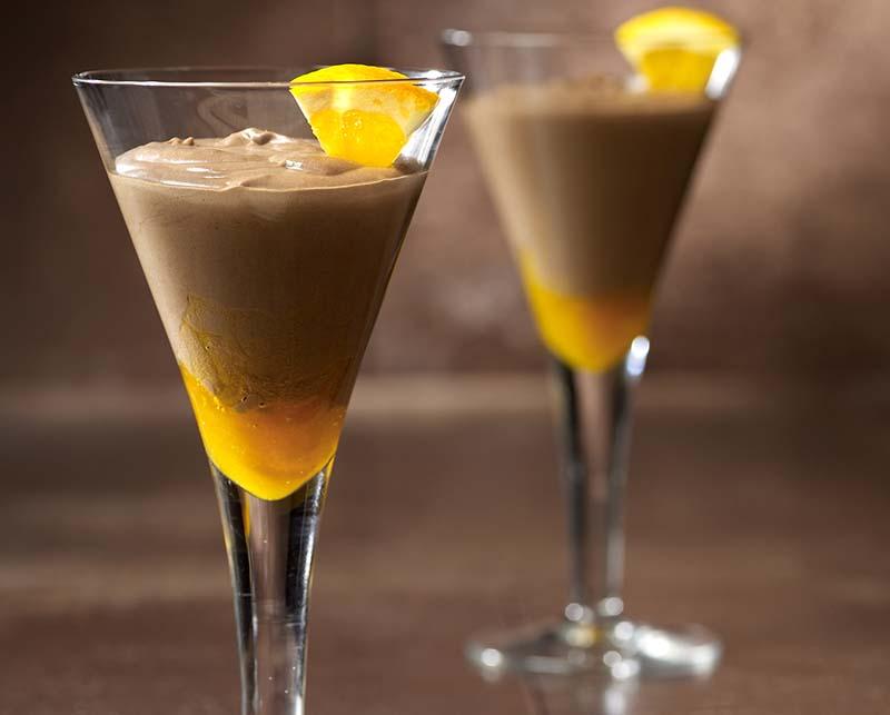 Koffie-chocolademousse met sinaasappel