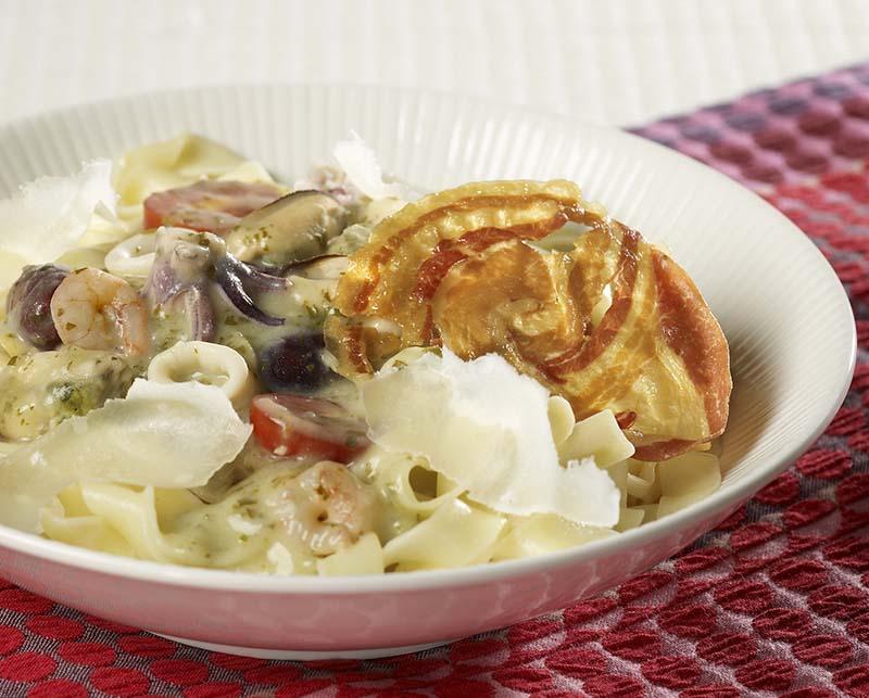 Soupe de courgette au brocoli colruyt - Tagliatelles aux fruits de mer recette italienne ...