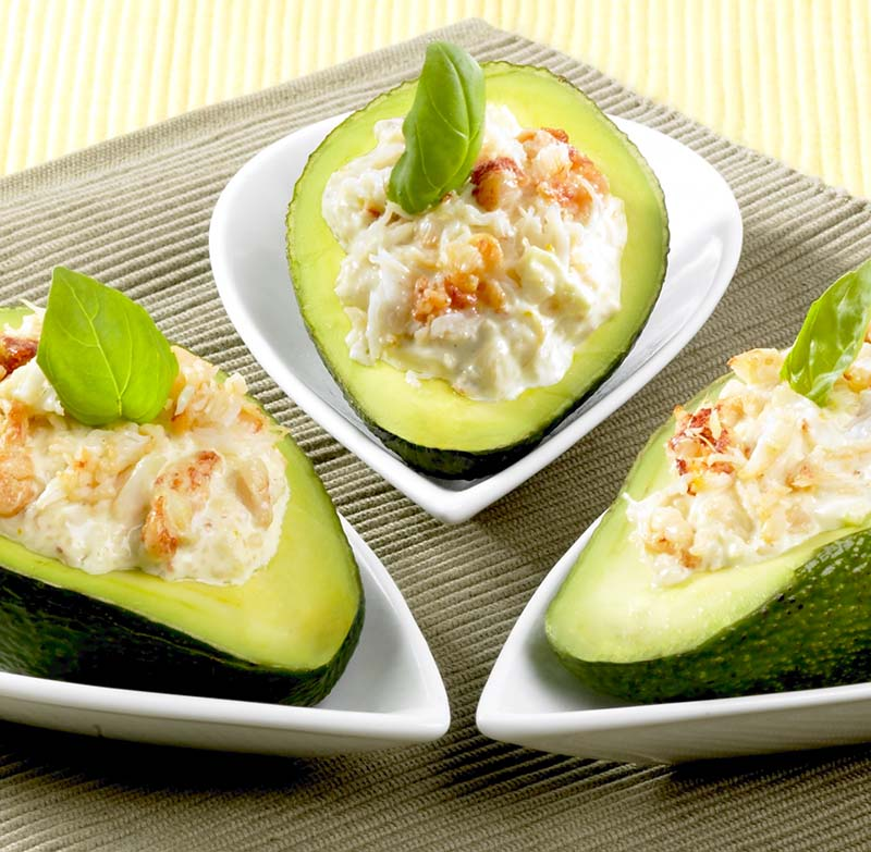 avocado's gevuld met krab | colruyt
