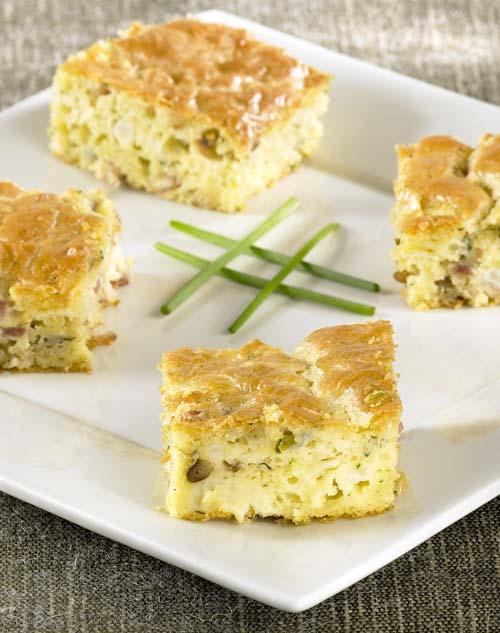 Mini-cakes au chou-fleur et aux lardons
