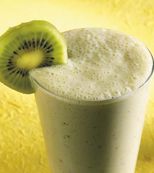 Milk-shake au yaourt et au kiwi
