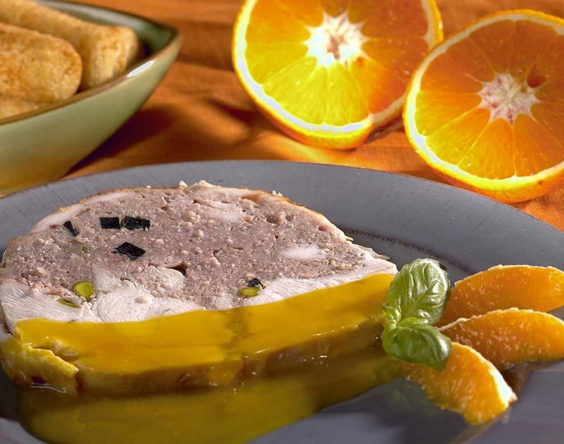 Gevulde kalkoen met sinaasappelen