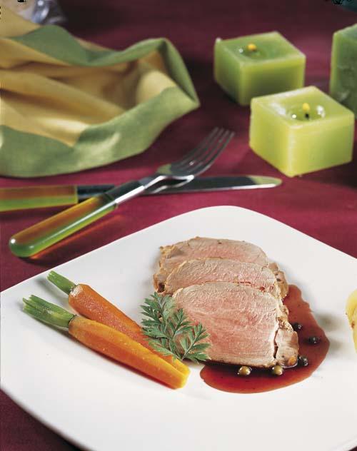 Noix de filet pur de porc, sauce brune