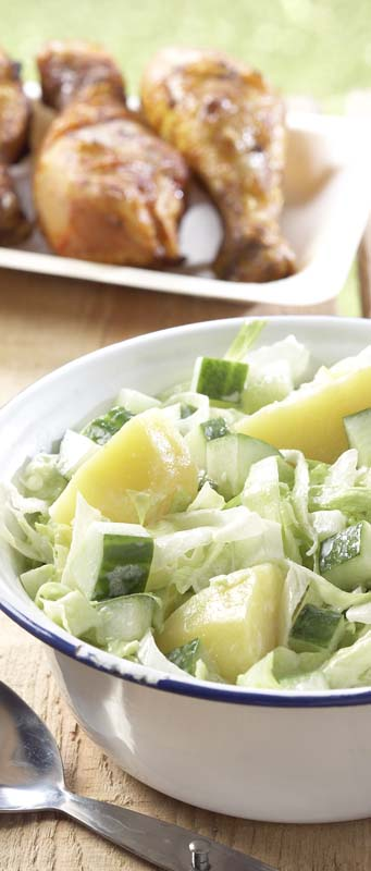 Aardappelsalade met komkommer