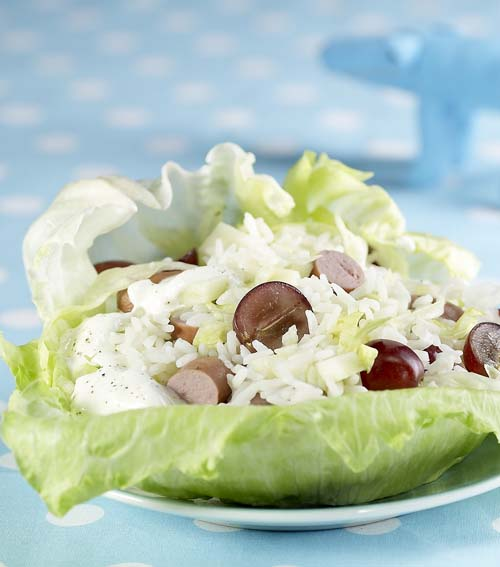 Salade de riz sur iceberg