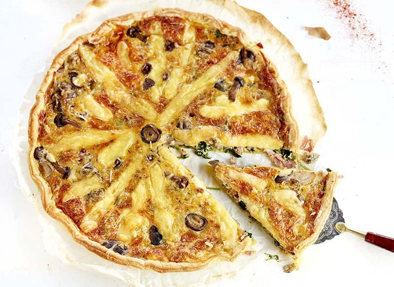 Quiche aux légumes lardons et fromage