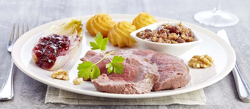R ti de biche pur e de butternut et sauce aux myrtilles - Cuisiner du marcassin ...