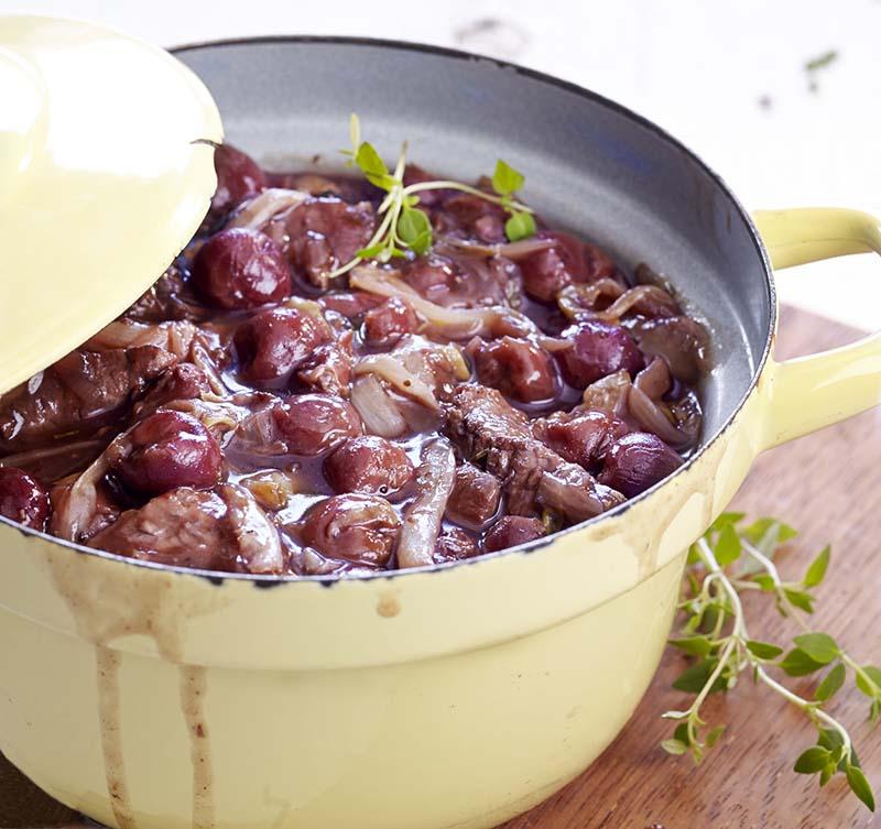Blanquette de veau aux chicons, sauce à la Framboise