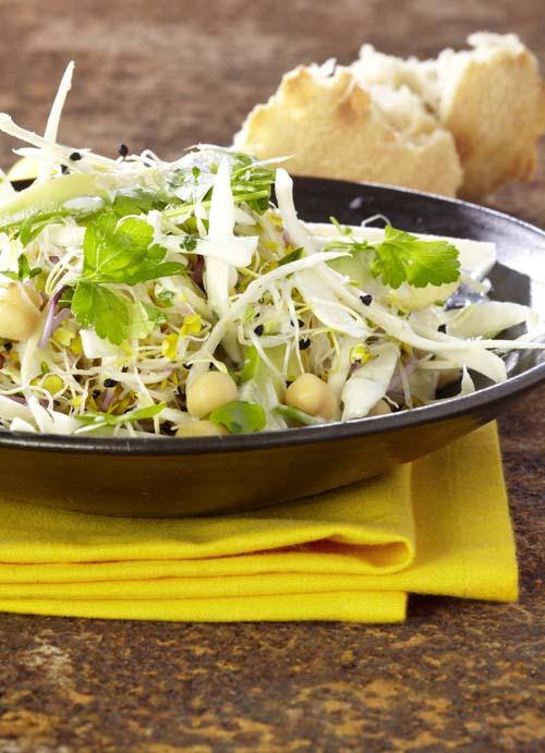 Salade de panais et dressing au roquefort
