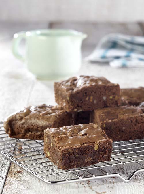 Brownies met amandel- en pistachenoten