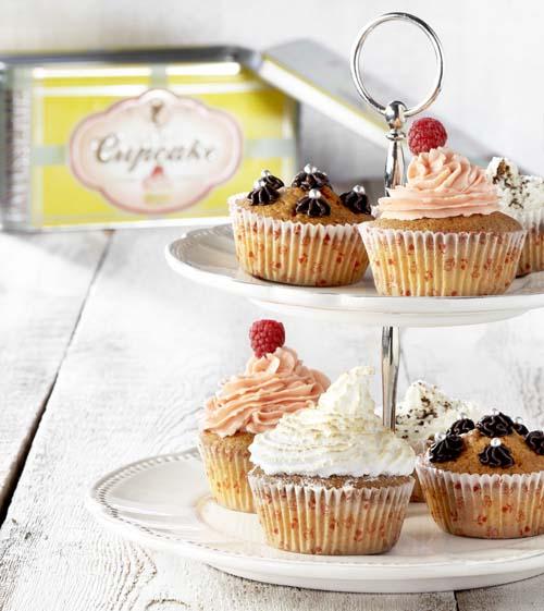 Klassieke cupcakes  met 6 toppings