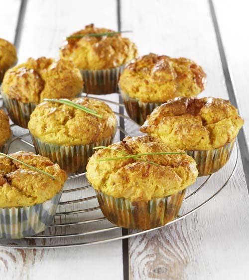 Muffins au céleri-rave et au camembert