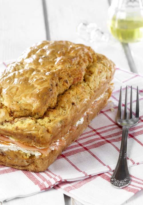 Cake saumon-fenouil au fromage aux fines herbes