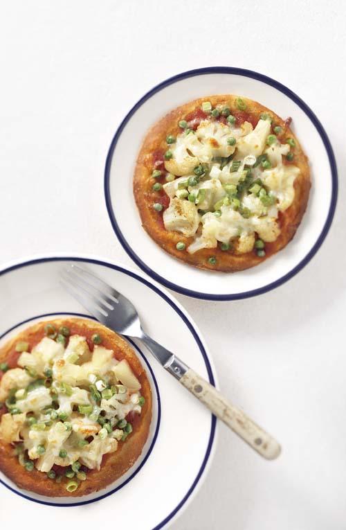 Minipizzas au chou-fleur et à l'ananas