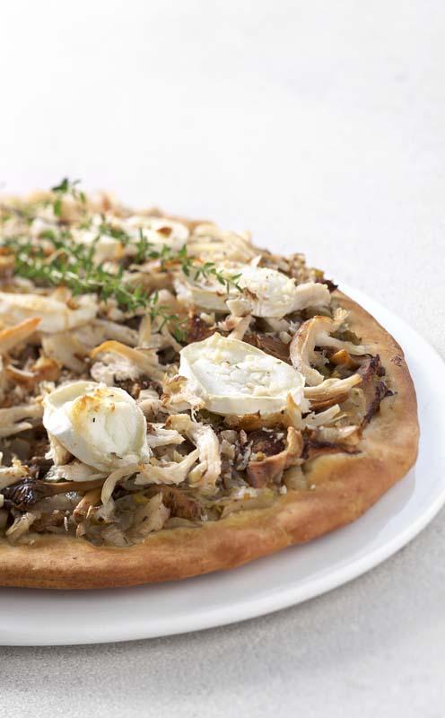 Pizza Pollo aux légumes d'automne
