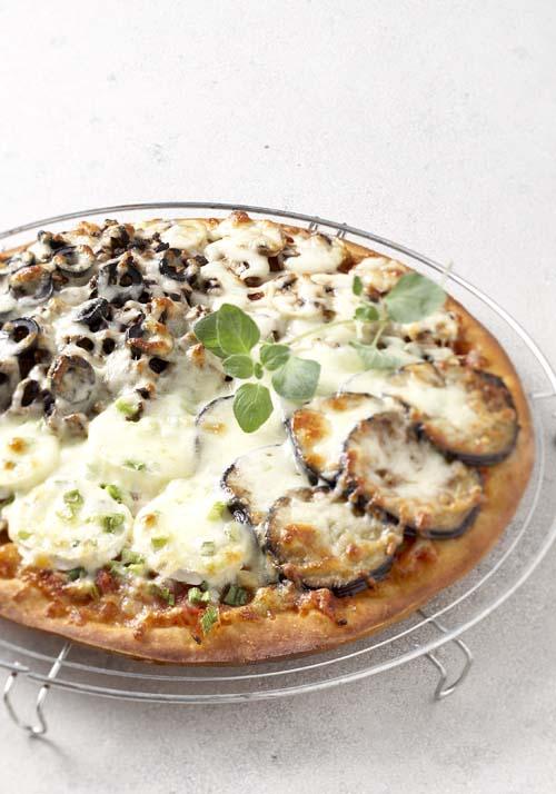 Pizza Quattro Stagioni alla vegetariana