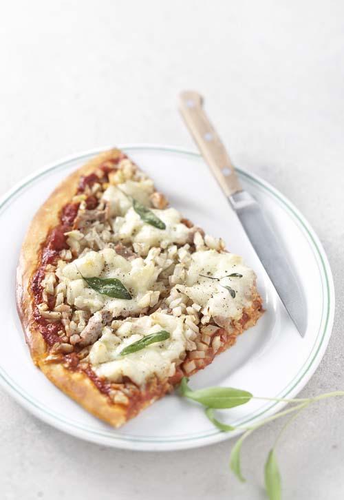 Pizza Saltimbocca au veau, au fenouil et à la sauge