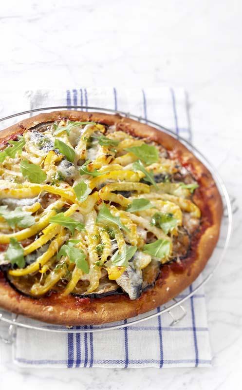 Zuiderse auberginepizza