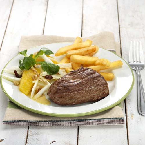 Steak met wintersalade