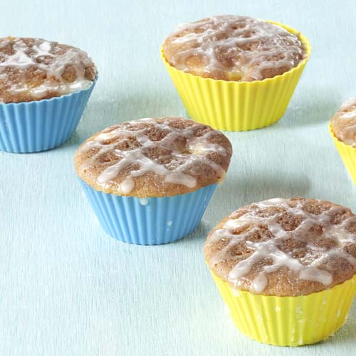 Muffins à la mangue glacés à l'orange