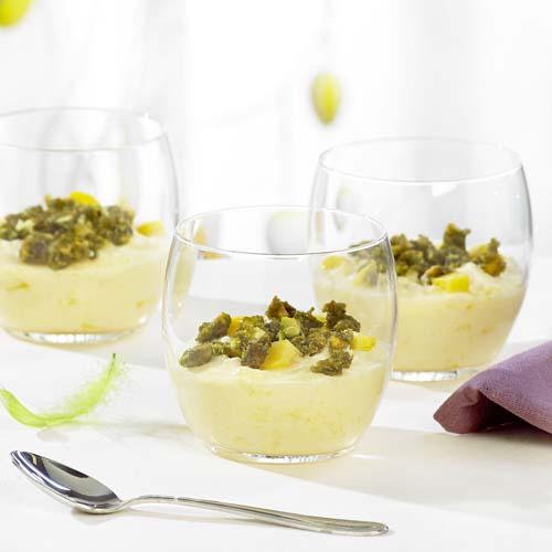 Mousse de mangues aux pistaches