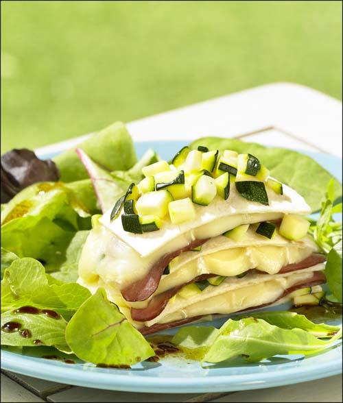 Tourelle-surprise sur lit de salade