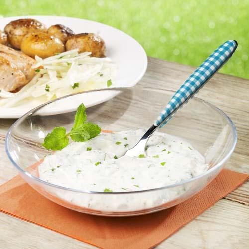 Frisse munt-yoghurtdressing