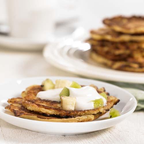 Pancakes au fromage blanc et aux fruits