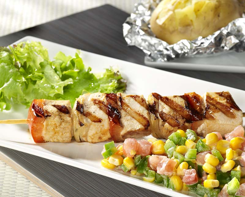 Brochettes de poulet country