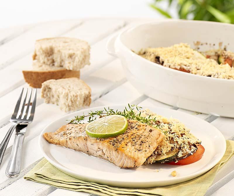 Saumon à la plancha et légumes grillés | Colruyt