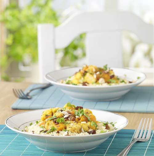 Couscous épicé aux légumes et au quorn
