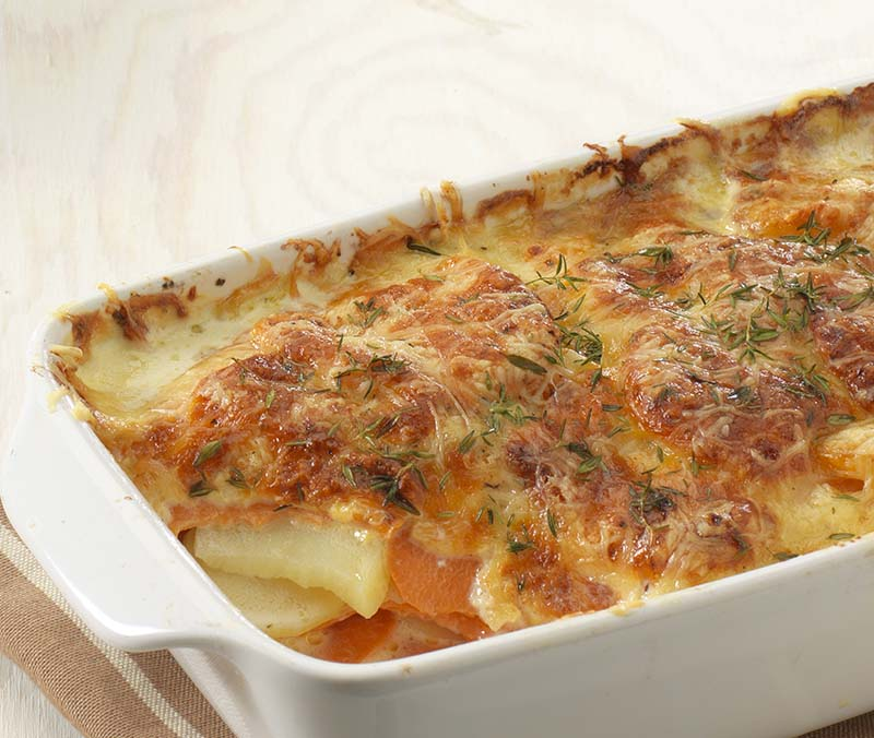Gratin duo aux patates douces