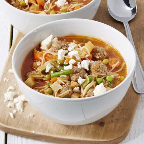 hoeveel gram vermicelli per liter soep